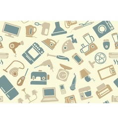 Seamless pattern of household appliances vector image