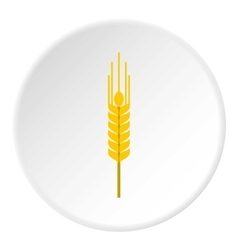 Spikelet of wheat icon flat style vector image vector image