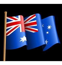 Australian flag on a black background vector image