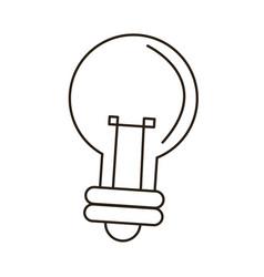 Bulb light idea innovation outline icon vector