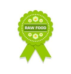 Raw food rosette vector image