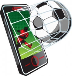 soccer news on phone vector image
