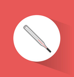 thermometer temperature medical tool vector image vector image