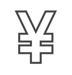 yen thin line icon vector image vector image
