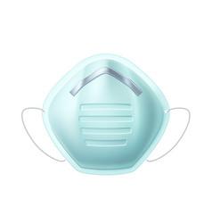 3d facial mask air respirator infection vector image