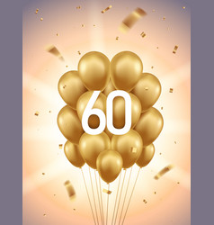 60th year anniversary background vector image