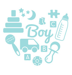 Baby and newborn set for a boy vector
