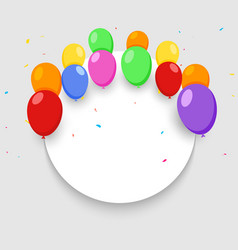 Balloon banner happy birthday background vector