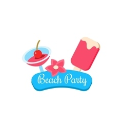 Beach party summer vacation vector