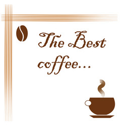 best coffee logo - coffee advertisement vector image