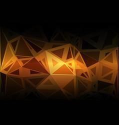 black orange yellow random sizes low poly vector image