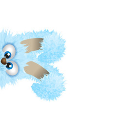 Blue easter bunny is hiding fluffy rabbit vector