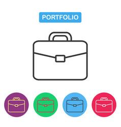 briefcase icon portfolio icon vector image