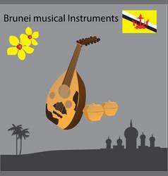 brunei musical instruments vector image