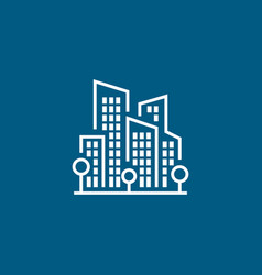 buildings line icon vector image