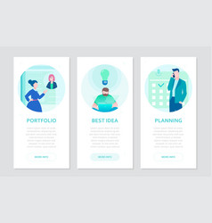 Business and finance - set of flat design style vector