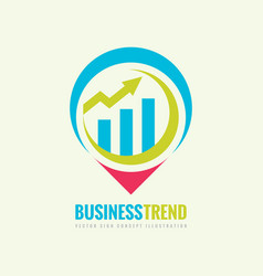 business trend logo template concept vector image