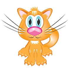 cartoon kitten vector image