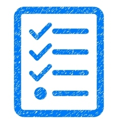 Checklist Grainy Texture Icon vector