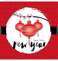 Chinese new year greeting card celebration vector