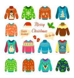 christmas jumper xmas cozy funny sweater with vector image