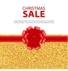 christmas sale gold elegant glitter background vector image