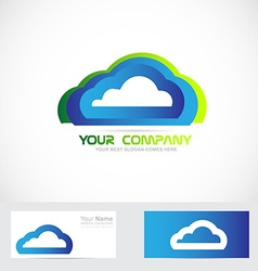 Cloud computing logo vector