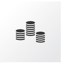 Coins icon symbol premium quality isolated money vector