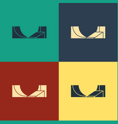Color skate park icon isolated on color background vector