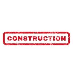 Construction Rubber Stamp vector