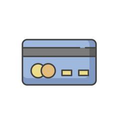Credit card back rgb color icon vector