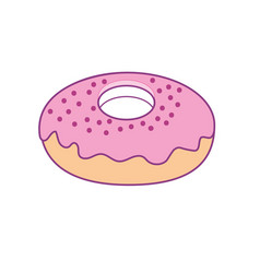 Dlicious and sweet donut bakery vector