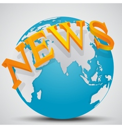Earth Globe with word News vector image