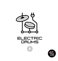Electronic drums sign vector