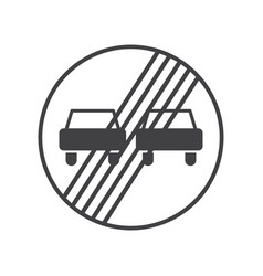 end of the prohibition of overtaking vector image