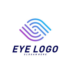 eye logo design concept eye logo template icon vector image