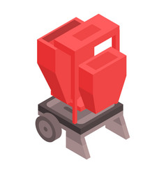 farm red machinery icon isometric style vector image