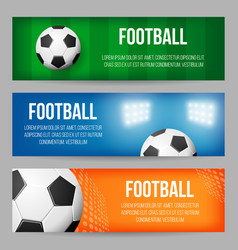 football stadium banner templates set vector image