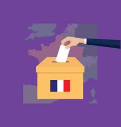 france election vote concept vector image