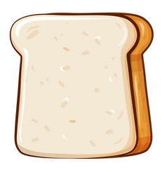 fresh bread toast for breakfast made in cartoon vector image
