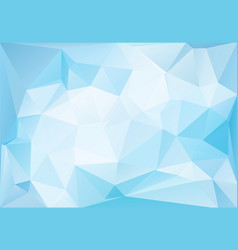 frozen ice low-poly background vector image