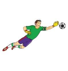 Goal Keeper vector image