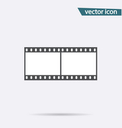 gray film strip icon isolated on background moder vector image