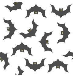 Halloween seamless pattern bat flying flat design vector