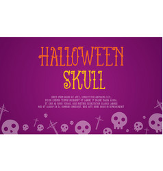 Halloween skull card style collection vector
