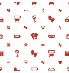 Hanging icons pattern seamless white background vector