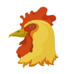 Head of a rooster vector