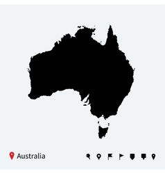 High detailed map australia with navigation vector