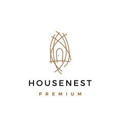 house nest logo icon vector image