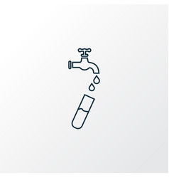 Hydrology icon line symbol premium quality vector